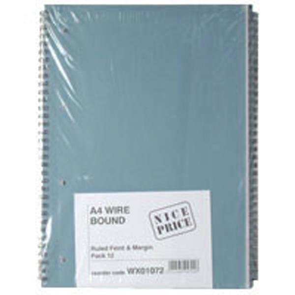 Image for Blue Bound A4 Spiral Pad (80 leaf) Pack of 12