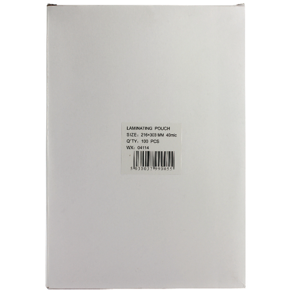 A4 Lightweight Laminating Pouch 80 Micron (Pack of 100) WX04114