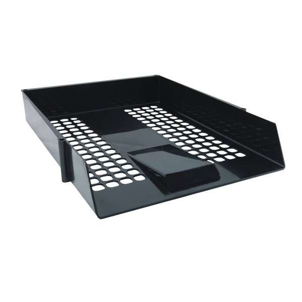 Contract A4 Black Letter Tray (Mesh design and economical plastic construction)