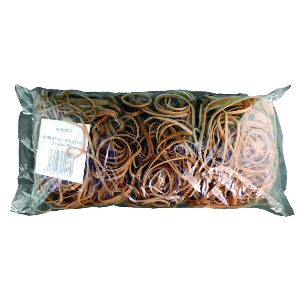 Image for Assorted Size Rubber Bands (Pack of 454g) 9340013