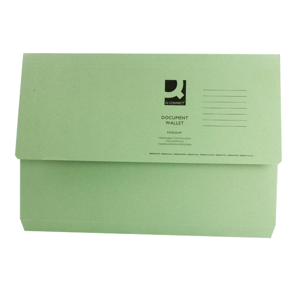 Image for Green Document Wallet (Pack of 50) 45914EAST
