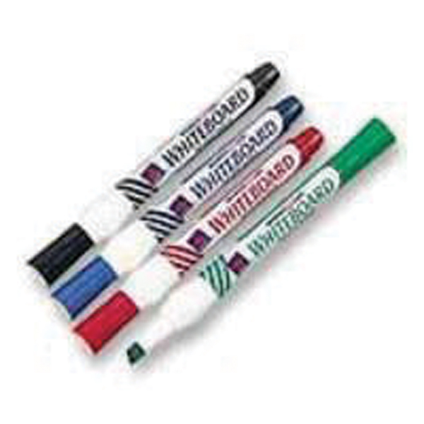 Assorted Whiteboard Markers Chisel Tip (Pack of 4)