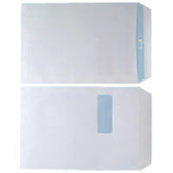 Envelope C4 Window 90gsm White Self Seal (Pack of 250)