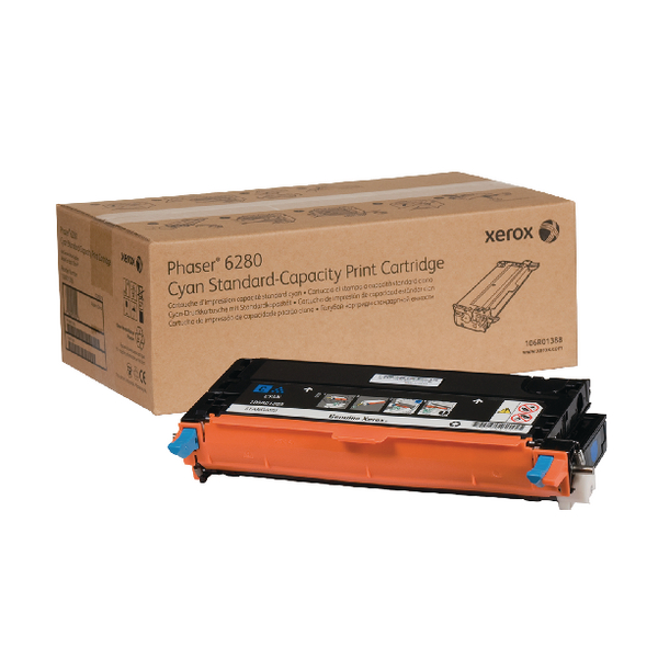 Xerox Cyan Toner Cartridge (2,200 Page Capacity) 106R01388