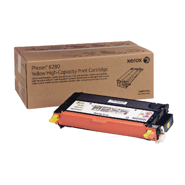 Xerox Phaser 6280 Yellow High Yield Toner Cartridge 106R01394