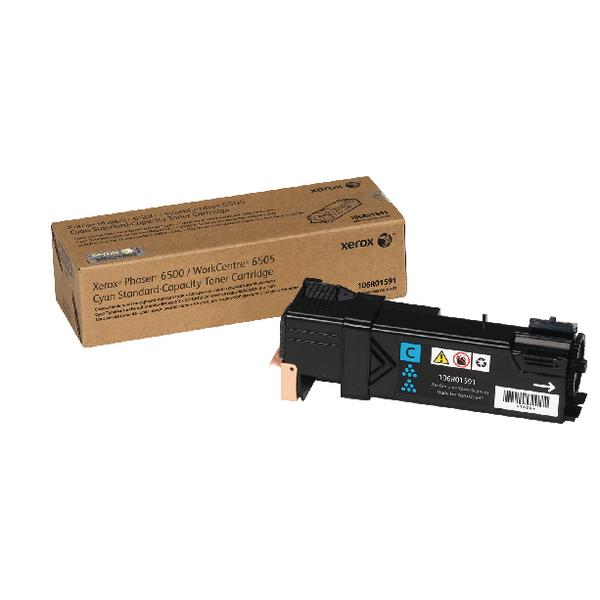 Xerox Cyan Toner Cartridge (1,000 Page Capacity) 106R01591