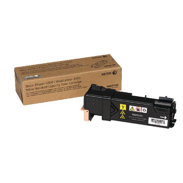 Xerox Phaser 6500 Yellow Toner Cartridge 106R01593