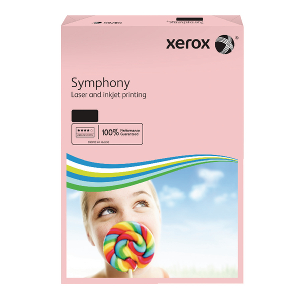 Xerox A3 Symphony Tinted 80gsm Pastel Pink Copier Paper (Pack of 500) 003R92261