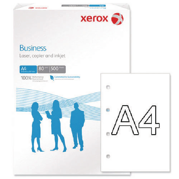 Xerox Business A4 White 80gsm 4 Hole Punched Paper (Pack of 500) 003R91823