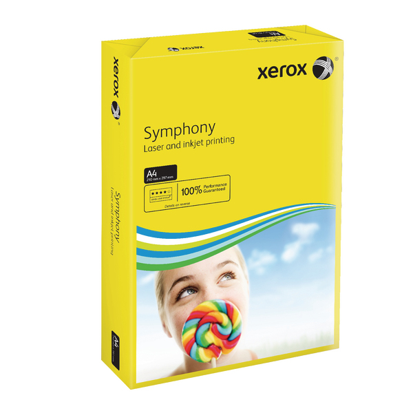 Xerox Symphony Dark Yellow A4 80gsm Paper (Pack of 500)