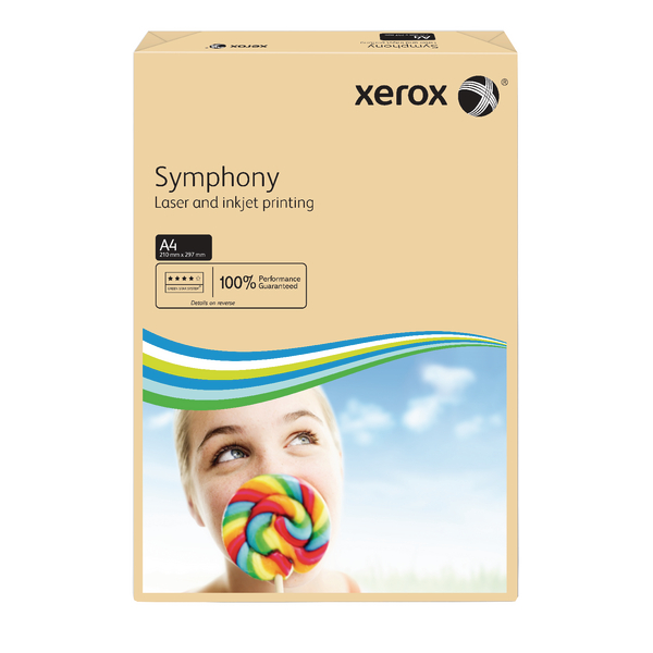 Xerox Symphony Pastel Tints Salmon Ream A4 Paper 80gsm 003R93962 (Pack of 500)