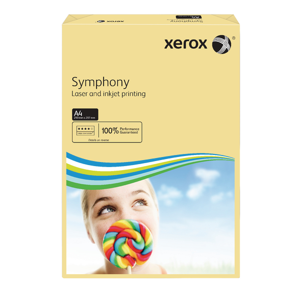 Xerox Symphony Pastel Tints Ivory Ream A4 Paper 80gsm 003R93964 (Pack of 500)