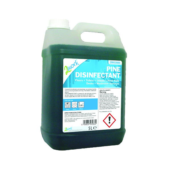 2Work Pine Disinfectant 5 Litre Bottle