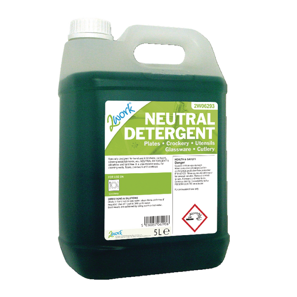2Work Dishwasher Neutral Detergent 5 Litre