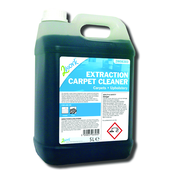 2Work Spray Extraction Carpet Cleaner 5 Litre