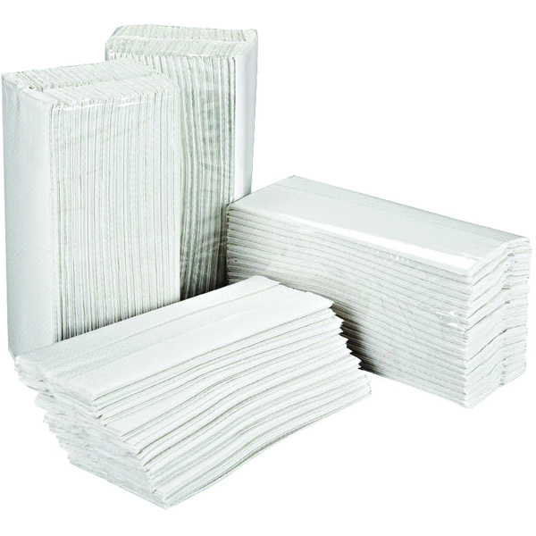 2Work White 2-Ply C-Fold Hand Towels 217mm x 310mm (Pack of 2355)