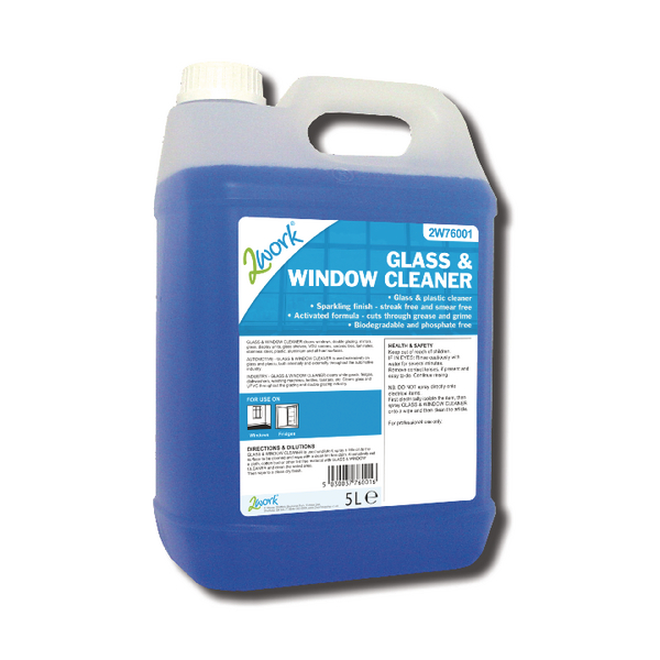 2Work Glass and Window Cleaner 5 Litre 701