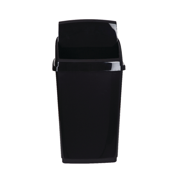 Image for 2Work Swing Top Bin 30 Litre Black RB02383
