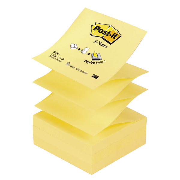 Post-it Z-Note 76x76mm Yellow (12 Pack) R330