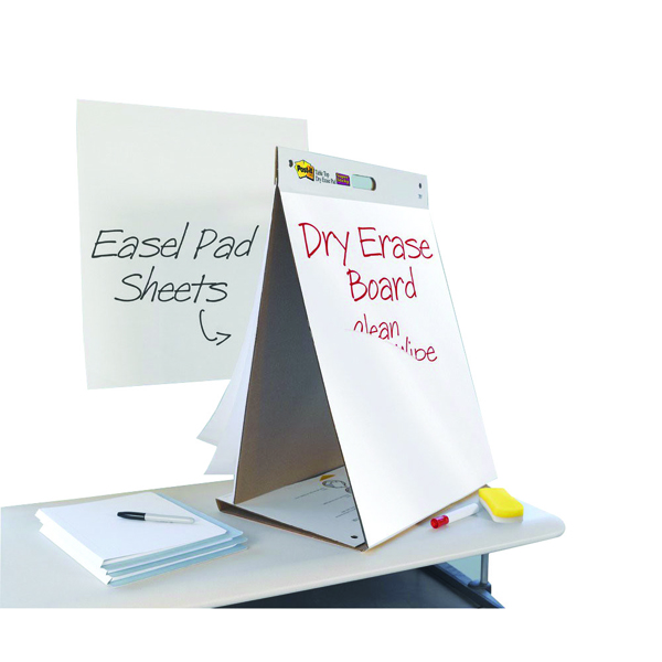 Image for 3M Post-it Table Top Easel Pad/Dry Erase Board 563-D3