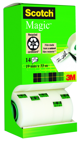 Scotch Clear Magic Tape 19mm x 33m Tower Pack (Pack of 12+2 Free) 81933R14