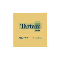 Tartan Repositionable Note 76 x 76mm Yellow (Pack of 12) TN4