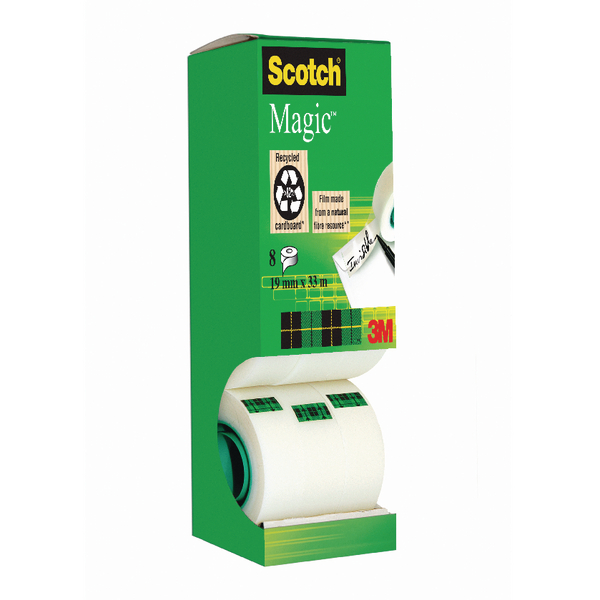 Scotch Magic Tape Tower Pack 19mmx33m (Pack of 8) 8-1933R8