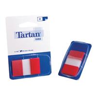 Tartan Index Tab Dispenser 25x43mm 50 Sheet Red 70005019818