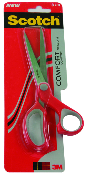 Scotch Comfort Scissors 180mm Red 1427