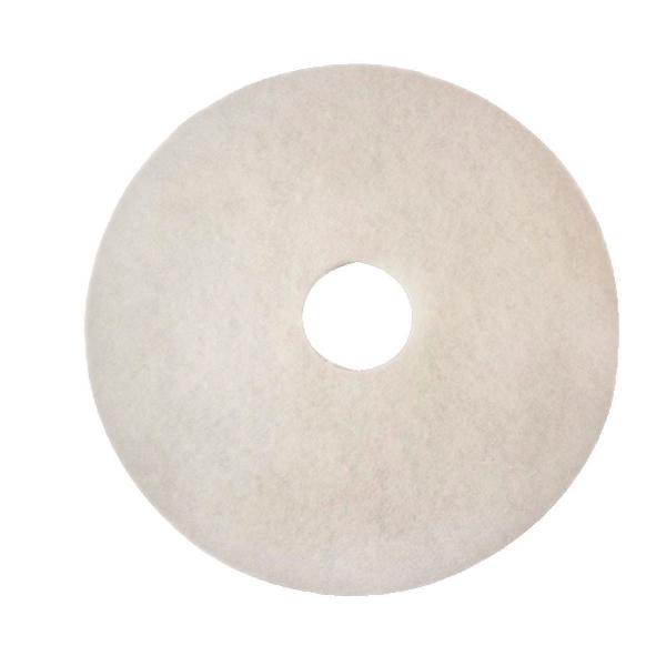 3M Economy 380mm White Floor Pads (5 Pack) 2NDWH15