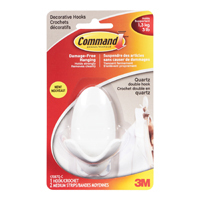 Image for 3M Command Adhesive Double Hook Quartz (Pack of 2) 17087Q