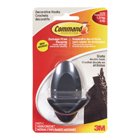 Image for 3M Command Adhesive Double Hook Slate (Pack of 2) 17087S