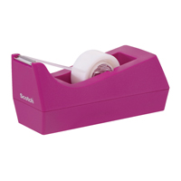 Scotch Tape Dispenser Fuchsia with One Roll of Scotch Magic Tape 19mm x 8.89m (Pack of 1) C38-F