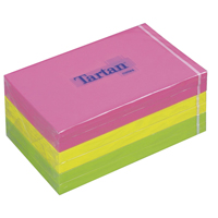 Tartan Sticky Notes 76x127mm Neon Assorted 100 Sheet (Pack of 6) FT510090341