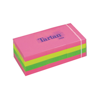 Tartan Sticky Notes 38x51mm Neon Assorted 100 Sheet (Pack of 12) FT510090416