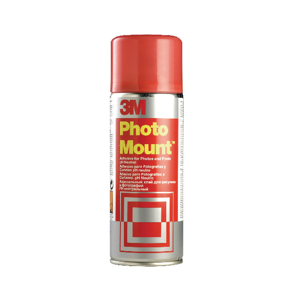 3M PhotoMount Aerosol Adhesive 400ml (Pack of 1) PHMOUNT