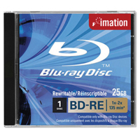 Imation BD-RE Blu-ray Disc SL 1-2x 25GB Jewelcase (Pack of 5) i19982