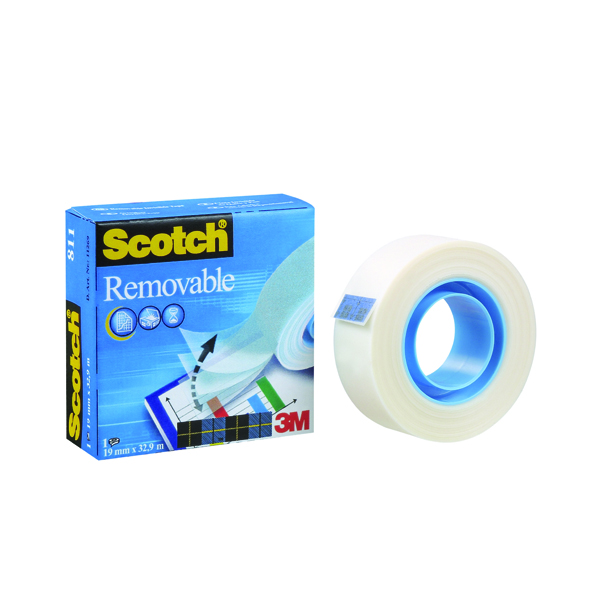 Scotch Removable Magic Tape 19mm x 33m (Pack of 1) 8111933