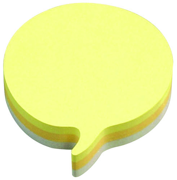 Post-it Speech Bubble 70 x 70mm Rainbow Notes (12 Pack) 3M37917