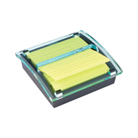 Post-it Z Notes Millenium Dispenser with Super Sticky Lined Pad 101x101mm Yellow BOGOF (Pack of 1)
