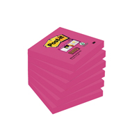 Post-it Super Sticky Notes 76x76mm Fuchsia (Pack of 6) Buy 2 Get 1 Free