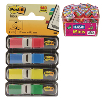 Post-it Small Index 4 Colour (Pack of 140) Buy 2 Get FOC Maoam Minis Pk40