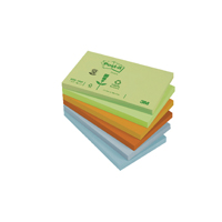 Image for 3M Post-it Note Joyful Colours Rainbow Pack of 12 76x127mm 655FL