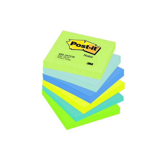Post-it 76x127mm Dream Colours Notes (6 Pack) 655MT