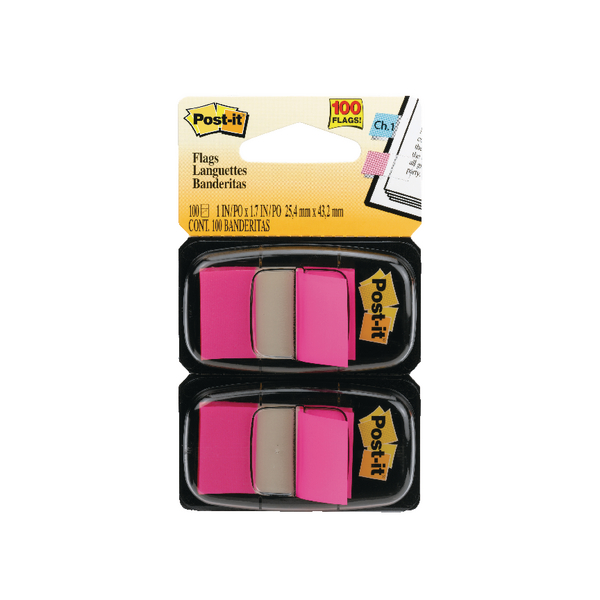 Post-it Index Dispenser Pink (Pack of 2x50) 680-BP2EU