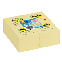 Post-it Notes 76 x 76mm Canary Yellow (Pack of 12) Plus 12 Free 7000081148