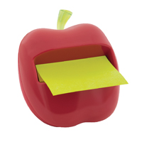 Post-it Red Apple-Shaped Z-Note Dispenser (Pack of 1) APL-330