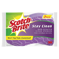 Scotchbrite Stay Clean Scourer Twin Pack