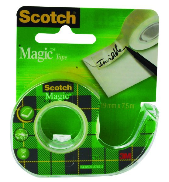 Scotch Clear Magic Tape 19mm x 7.5m (Pack of 12) 81975D