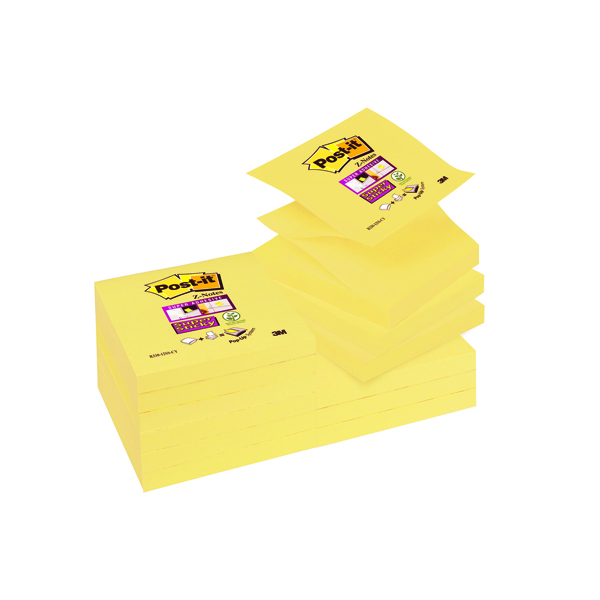 Post-it Super Sticky Z-Notes 76x76mm Canary Yellow (Pack of 12) R330-12SSCY